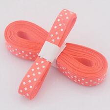 """Orange 5yds 3/8""""10 mm Christmas Ribbon Printed lovely dots Grosgrain Ribbon-"""