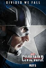 Captain America Civil War Movie Poster (24x36) - Chris Evans, Iron Man v3