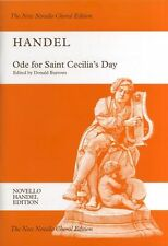Handel Ode For Saint Cecilias Day Novello Sing Vocal Choral Voice Music Book