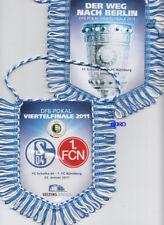 SCHALKE + 1.FCN + Wimpel + DFB Pokal Viertelfinale 2011