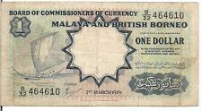 MALAYA AND BRITISH BORNEO , $1, P#8a, 1959