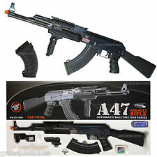 JG AK47 Electric Automatic Airsoft Gun Auto Rifle Full Metal Gearbox 410 FPS AEG