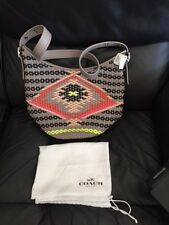 Coach F35053 Duffle In Woven Leather Shoulder Bag New!!!