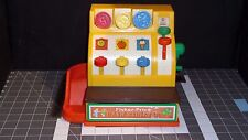Fisher Price Vintage 1974 Cash Register #926 WORKS! 3Coins Great Condition