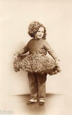 BJ173 Carte Photo vintage card RPPC Enfant danse tutu fillette funny costume