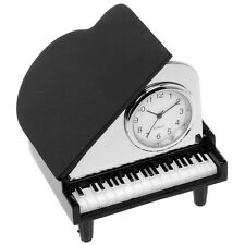 SUPERB QUALITY MINIATURE GRAND PIANO NOVELTY QUARTZ CLOCK NEW & BOXED