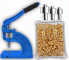 Hand Press Grommet Machine 900 Grommets & 3 Dies #0 #2 #4 Starter Kit Banner NEW