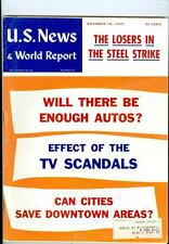 1959 U.S. News & World Report: Losers in Steel Strike/Enough Autos?/TV Scandals