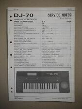 Roland DJ-70 Sampling Workstation Table of Contents Manual Service Notes