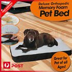 Deluxe Orthopedic Pet Bed Mattress Dog Pad Mat Memory Foam Cushion Large Small