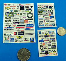 HO SLOT CAR STICKERS, Tire Companies Firestone Goodyear FOR CARS SHOPS BUILDINGS