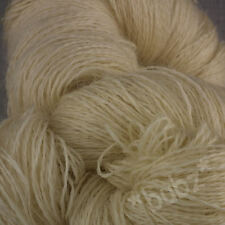 250g HANK SOFT PURE WOOL 3 PLY UNDYED ECRU DYEING NATURAL CREAM 2/15 KNIT YARN