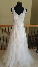 NEW! $1200 Maggie Sottero Magnolia Ivory Champagne Lace Wedding Dress Size 14