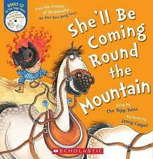 SHE'LL BE COMING ROUND THE MOUNTAIN Children's Picture Book + CD Topp Twins NEW