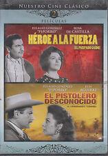 DVD - Heroe A La Fuerza & El Pistolero Desconocido NEW 2 En 1 FAST SHIPPING !