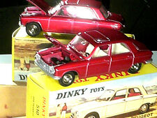 PEUGEOT 204  1965/1969 DINKY TOYS REEDITION ATLAS / BORDEAUX METAL