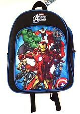 Marvel Comics Avengers Assemble Boy's Graphic Padded Backpack Book-Bag NWT
