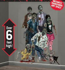 ZOMBIE FAMILY Scene Setter Halloween Party wall decoration kit 6' walking dead
