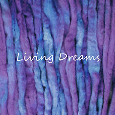 SPIN FELTING hand dyed VIOLET PURPLE Top Wool Roving Craft Fiber NEEDLE SOAP WET