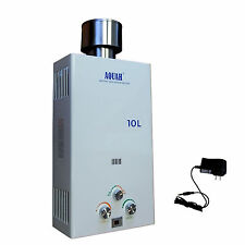 AQUAH 10L OUTDOOR LIQUID PROPANE GAS TANKLESS  WATER HEATER UP TO 3.1 GPM