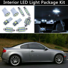 10PCS Bulbs White LED Interior Lights Package kit Fit 2003-2006 Infiniti G35 J1