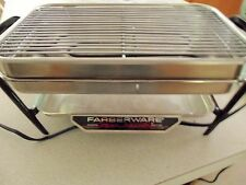 Faberware Open Hearth Indoor Smokless Electric Grill Rotisserie Vintage Good Con