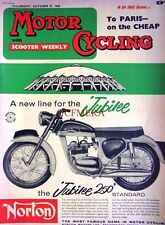 Oct 27 1960 NORTON 'Jubilee 250' Motor Cycle ADVERT - Magazine Cover Print