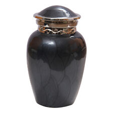Blessing Black Mini Cremation Keepsake Urn Ashes, Quality Brass Urns