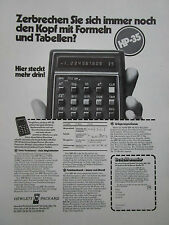 11/73 PUB HP HEWLETT PACKARD HP-35 CALCULATOR CALCULATRICE ORIGINAL GERMAN AD