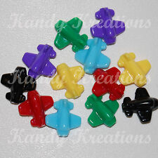 10 Airplane Plane Pony beads For kandi Bird Toys Kid Dummy Chunky Scout 25mm
