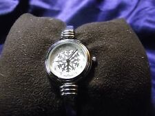 Woman's Quartz Snowflake Cuff  Watch **Nice** B17-Box 03
