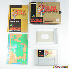 Zelda a link to the Past en Caja Con Manual Y Mapa-Super Nintendo Snes PAL