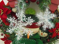 30pcs Christmas tree Ornaments Decor Holiday Party White Snowflake Xmas Festival
