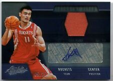 YAO MING 2012 ABSOLUTE FREQUENT FLYER AUTO AUTOGRAPH JERSEY CARD #5/25!