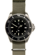 MWC 24 Jewel Automatic Military Divers Watch on Grey Military Strap / Band