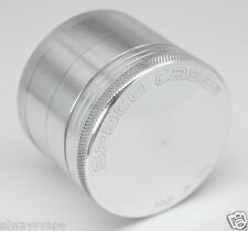 "Space Case Herb & Tobacco Grinder Small 2"" Inch 4 Piece Aluminum New Silver"