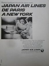 2/1969 PUB JAPAN AIR LINES JAL JAPON OSAKA NEW-YORK LONDON TOKYO FRENCH AD