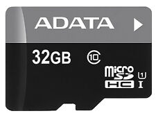 32GB AData Turbo microSDHC UHS-1 CL10 Memory Card w/SD adapter