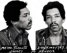 Jimi Hendrix Mugshot 1969 Arrested Mug shot 8 x 10 Photo Picture