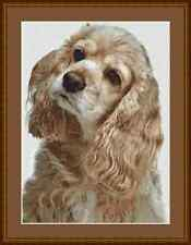 Cocker Spaniel Perro Cross Stitch Kit