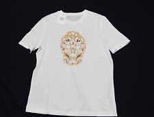 ALEXANDER MCQUEEN GOLD FLOWERS SKULL TSHIRT WOMAN'S NEW AUTHENTIC MEDIUM/38 816