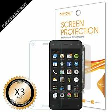 Amazon Fire Phone Screen Protector 3x Anti-Scratch HD Clear Cover Guard Saver
