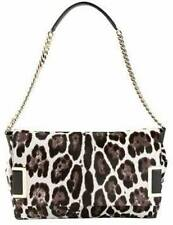 NEW JIMMY CHOO ALLY QUARTZ LEOPARD PRINT PONY SHOULDERBAG