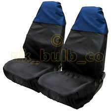 2 X BLUE & BLACK SEAT COVERS TO FIT Isuzu MODELS - WATER RESISTANT
