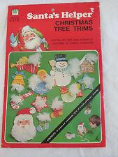 New Vintage Whitman Santa's Helper Christmas Tree Trims Patterns Craft Kit 1976