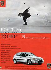Publicité Advertising 1998  ROVER 200 Série Marine