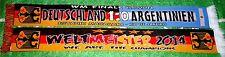 Deutschland - Argentinien Schal Spielschal WM 2014  BRD Ultra + neu + 100% Acryl