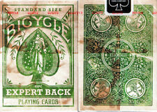 GREEN Deck Bicycle Distressed Expert Back Playing Cards Heritage Series New