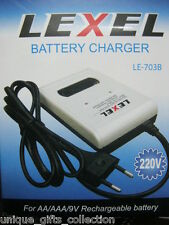 UNIQUE- AA+AAA+9V RECHARGEABLE BATTERY Cell CHARGER - FREE SHIPPING