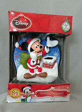 Disney Santa Mickey On Roof Lighted Xmas Holiday Ornament NIB Free USA Ship